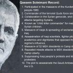 Ghassem Soleimani's partial list of crimes