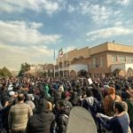 Iranians protest against the ruling regime