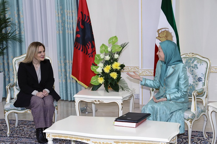 Mrs. Maryam Rajavi and Albanian MP Ms. Monika Kryemadhi