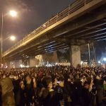 Student's protest near Amir Kabir University in Tehran-January 11