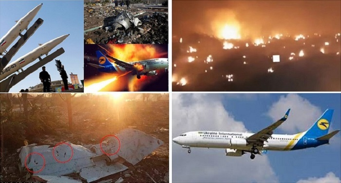 Iranian regime fired missiles on a civilian airplane