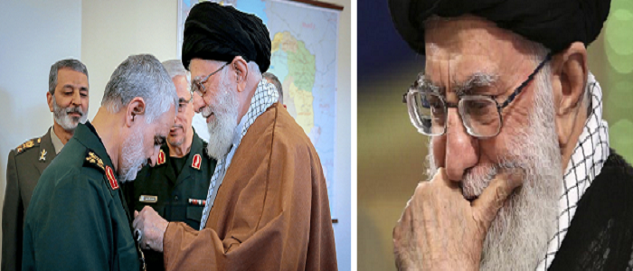 Ali Khamenei and Qassem Soleimani