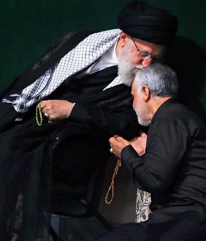 Ali Khamenei and Soleimani
