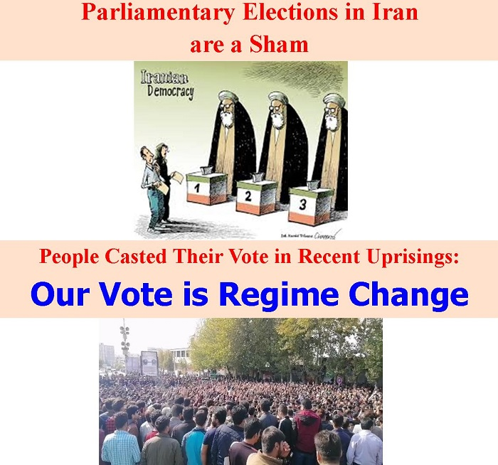 Iranian people boycott the coming election