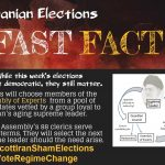 "An infography of how the ""election"" takes place in Iran under the Velayat-Faqih rule in Iran"