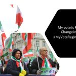 MEK supporters rally in Munich, calling for boycotting the election