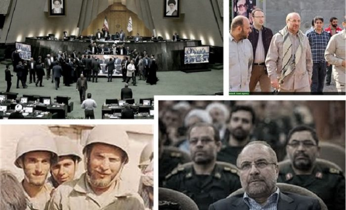 Qalibaf the new head of the Iranian regime parliament and ex-commander of the IRGC terrorist force