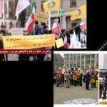 Iranian diaspora protest in favor of resistance