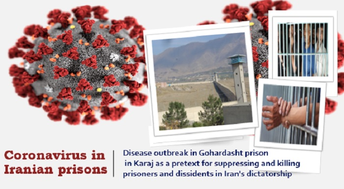 Coronavirus, or COVID-19, has occurred in a number of the regime's prisons and is being largely ignored by prison officials.
