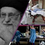 Khamenei and people caring to hospital