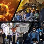 coronavirus and crowded people