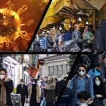 coronavirus and crowded people