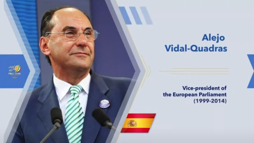 Alejo Vidal-Quadras, former Vice President of the European Parliament from 2004 to 2014 and President of the International Committee In Search of Justice