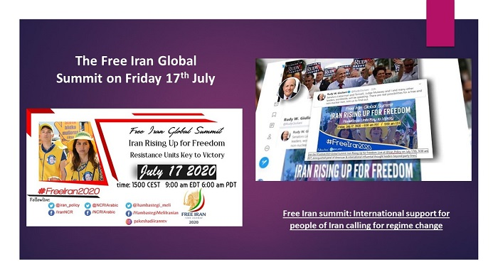 The Free Iran Global Summit on Friday 17th July