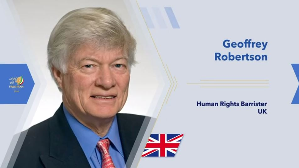 Geoffry Robertson QC, renowned human rights barrister, academic and author