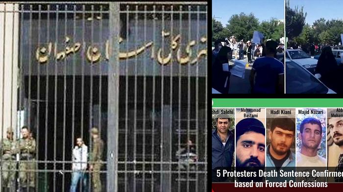 Outside the Isfahan Judiciary.