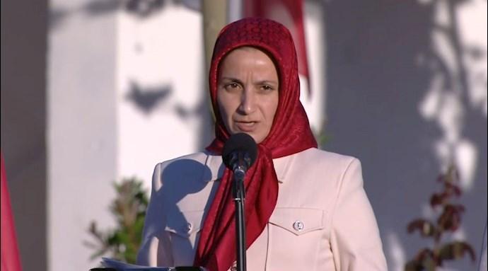 Damona Taavoni, PMOI/MEK member in Albania.