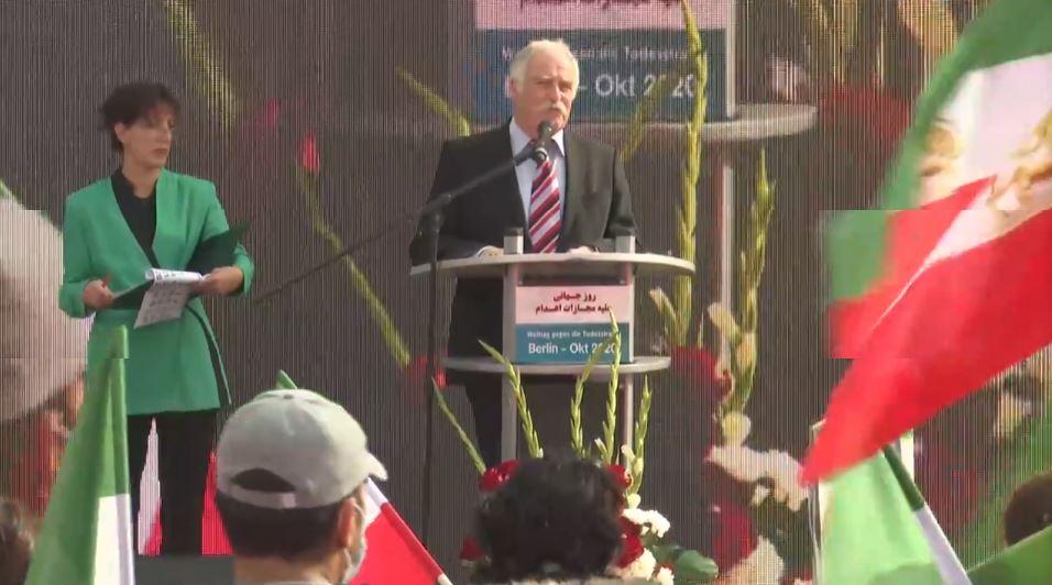 Christian Zimmermann, speaks at the event