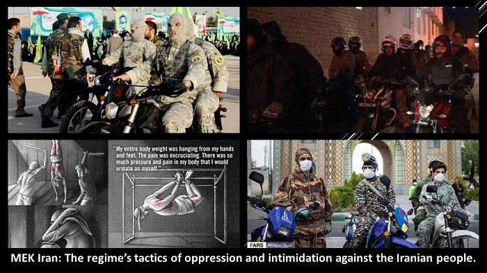 The regime's tactics of oppression