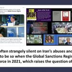 The EU is often strangely silent on Iran's abuses