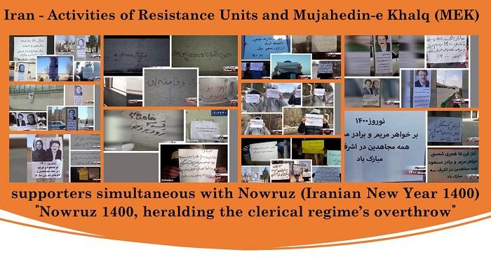 """""""Nowruz 1400, heralding the clerical regime's overthrow"""""""