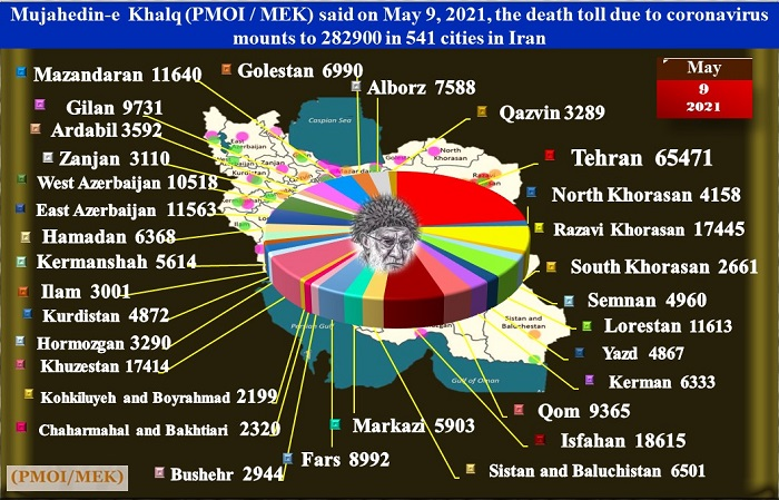 death toll in 541 cities had exceeded 282,900.